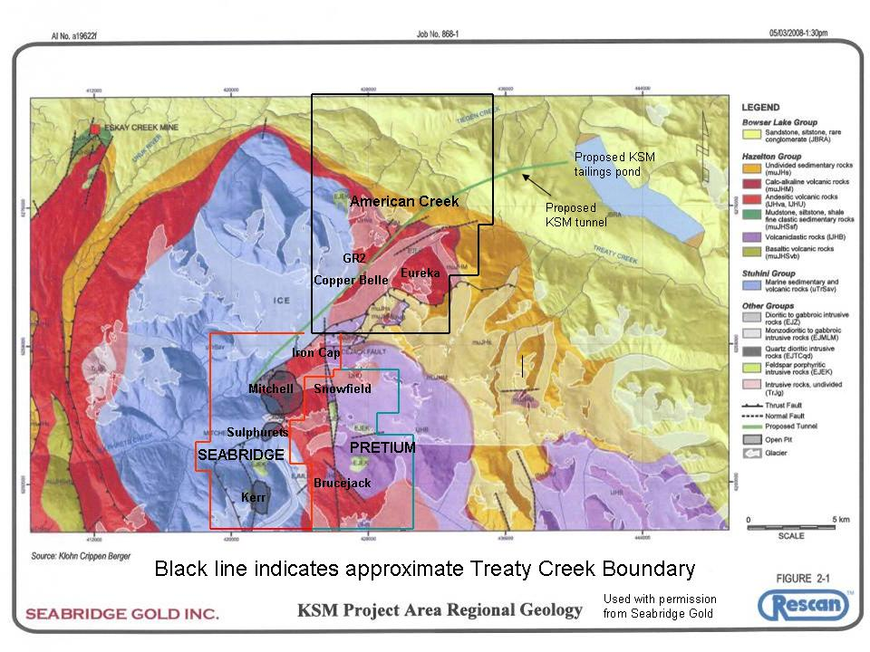 Treaty KSM geological map