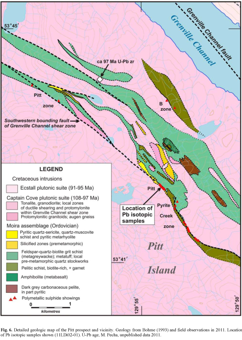 geologic map of the Pit